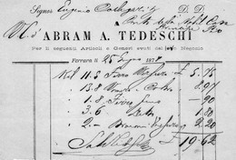 1878  FERRARA - ABRAM A.  TEDESCHI - Italië