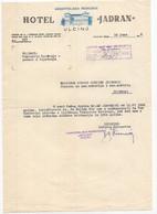 1952 YUGOSLAVIA,MONTENEGRO,ULCINJ,HOTEL JADRAN,LETTERHEAD - Zonder Classificatie