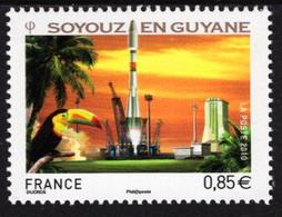 France - 2010 - Soyuz Space Ship Launch In Guyana - Mint Stamp - Ongebruikt