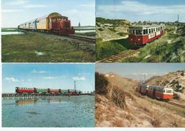 4 AK Sylt Spiekeroog Wangerooge Railway Diesel Train Tramway Eisenbahn Narrow Gauge Autorail Inselbahn 60er - Sylt