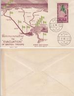 1947 EGYPT EVACUATION OF BRITISH TROOPS F.D.C - Cartas