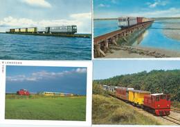 4 AK Juist Langeoog Borkum Railway Diesel Train Tramway Eisenbahn Narrow Gauge Autorail Inselbahn - Juist