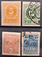 ESTONIA 1919/20 - Canceled - Sc# 29, 30, 31, 32 - Estonie