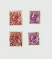Timbres BELGIQUE N°Yvert 391-393  Oblitérés (2 Exemplaires De Chaque Timbre) - Usados
