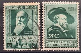 BELGIUM 1930 - Canceled - Sc# 216, 217 - Usados
