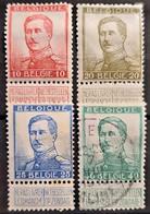 BELGIUM 1912/13 - MLH/canceled - Sc# 103-107 - Usados