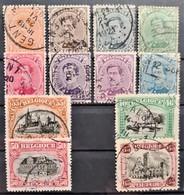 BELGIUM 1915-20 - Canceled - Sc# 108-118, 139 - Usados