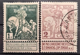 BELGIUM 1910 - MLH/canceled - Sc# B1, B2 - Usados