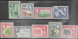 Fiji   1938-40   9 Diff   GEO VI To The 1sh5d  MH   2016 Scott Value $21.95 - Fiji (...-1970)