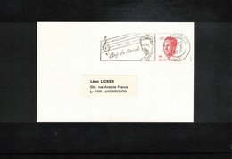Belgium 1987 Music Composer August De Boeck Interesting Postcard - Música