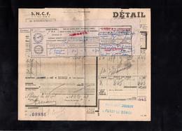 1948 - PARAY LE MONIAL - SNCF - Bordereau D'Expédition - Transportmiddelen