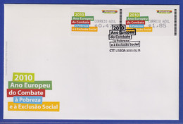 Portugal 2010 ATM Gegen Armut Amiel Mi.-Nr. 70.2 Satz AZUL 47-1,85 Auf FDC - Vignette Di Affrancatura (ATM/Frama)