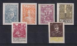 Mitellitauen 1920 Freimarken Mi.-Nr. 14-19 B Satz Kpl. ** - Lituania