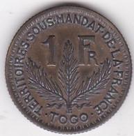 Togo Territoires Sous Mandat De La France. 1 Franc 1925. Bronze Aluminium. Lec 12 - KM# 2 - Togo