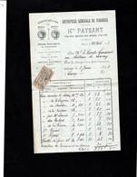 ALENCON - Facture 1903 - Entreprise Générale De Vidanges - Hte PAYSANT - 1900 – 1949