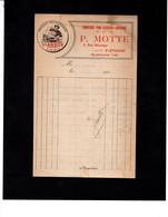 ST ETIENNE - Facture Illustrée - Viandox Produit LIEBIG - Fournitures Pour Pâtissiers Confiseurs - P. MOTTE Rue Marengo - 1900 – 1949