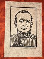 Portrait De Marcel Pagnol Par Louise Weill- (Estampe Originale Signée Et Numérot - Affiches