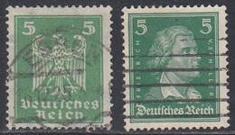 Germany, Scott #331, 353,  Used, German Eagle, Von Schiller, Issued 1924-26 - Used Stamps