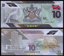 Trinidad And Tobago 10 Dollars, (2020), AA Prefix, Polymer, UNC - Trinidad & Tobago