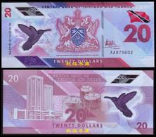 Trinidad And Tobago 20 Dollars, (2020), AA Prefix, Polymer, UNC - Trinidad & Tobago