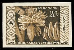 """A.O.F / AFRIQUE OCCIDENTALE FRANÇAISE 1958 Yv.67 """"La Banane"""" Essai De Couleur Brun Olive Non Dentelé ** - Ongebruikt"""