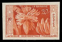 """A.O.F / AFRIQUE OCCIDENTALE FRANÇAISE 1958 Yv.67 """"La Banane"""" Essai De Couleur Vermillon Non Dentelé ** - Ongebruikt"""