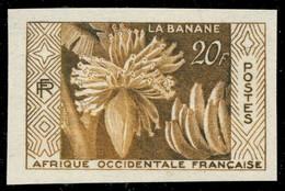 """A.O.F / AFRIQUE OCCIDENTALE FRANÇAISE 1958 Yv.67 """"La Banane"""" Essai De Couleur Brun Jaune-olive Non Dentelé ** - Ongebruikt"""