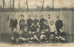 "CPA FRANCE 73 ""Chambéry, Lycée De Chambéry, Sport Athlétique équipe Première 1910-1911"". - Chambery"
