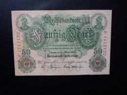 ALLEMAGNE * : 50 MARK    10..3.1906    C.A. 25b** / P 26b     Presque TTB+ - 50 Mark