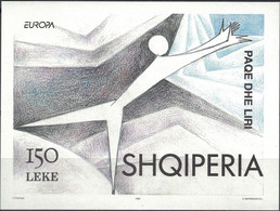 Albania, 1995, Mi. Bl. 104, Y&T BF 80, Sc. 2471, SG 2594, Europa, Peace And Freedom, MNH - 1995