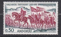 Lt0277 ANDORRE FRANCAIS 1963 Charlemagne 0.50f   N* - Ungebraucht