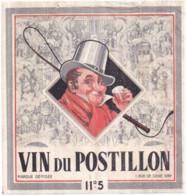 Étiquette VIN Du POSTILLON 11°5 Marque Déposée 1 Rue De Seine IVRY - Andere