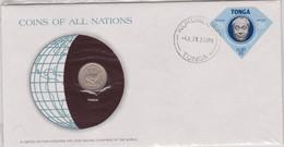 Tonga 1978 Coin FDC - Tonga (1970-...)