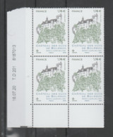 """FRANCE / 2020 / Y&T N° 5417 ** : """"Touristique"""" (Château Des Ducs De Bourbon à Montluçon - Allier) X 4 - CD 2020 07 16 ( - Ongebruikt"""