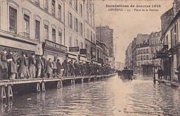 92 -- Inondations De Janvier 1910 -- Asnières -- Place De La Station -- Pharmacie -- Pâtisserie Veret --- 771 - Asnieres Sur Seine