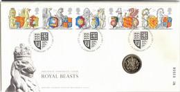 GREAT BRITAIN, 1998 ROYAL BEASTS PNC - Cartas