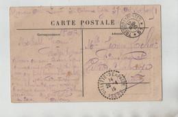 Ecrit De Guerre Rochat 1915 Pensionnat Villette Serpaize Magnières L'église - Guerra 1914-18