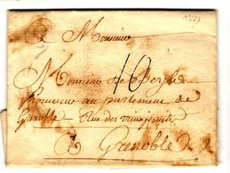 42262 - Pour GRENOBLE - 1701-1800: Precursores XVIII