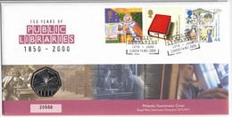 GREAT BRITAIN, 2000 PUBLIC LIBRARIES PNC - Cartas