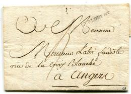 MAINE ET LOIRE De SAINT FLORENT LAC Non Datée Marque Lenain N°2 Et Taxe De 4 Pour ANGERS - 1701-1800: Precursores XVIII