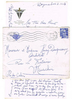 ENVELOPPE ET CONTENU  A EN-TETE ILLUSTRES ECOLE DES TROUPES AEROPORTEES BAYONNE - 1921-1960: Periodo Moderno