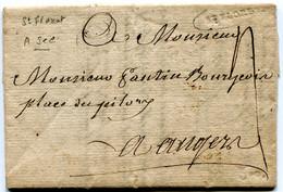 MAINE ET LOIRE De SAINT FLORENT LAC Du 30/04/1791marque Lenain N°2 à Sec Et Taxe De 4 Pour ANGERS - 1701-1800: Precursores XVIII