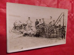 CARTE PHOTO  ACCIDENT INCENDIE.? AVION AVIATION ?  MILITAIRE  AU DOS Acct BREJO PIERRE 23 07 1929 - To Identify