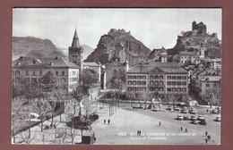 Valais / Wallis - SION - Place De La Planta - Valère Et Tourbillon - Auto - VS Valais