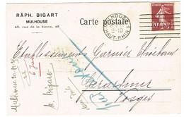 CARTE COMMERCIALE RAPH BIGART MULHOUSE - 1921-1960: Moderne