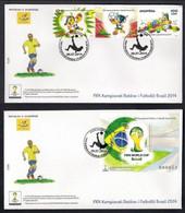 ALBANIA 2014 FOOTBALL WORLD CUP FDC - 2014 – Brazilië