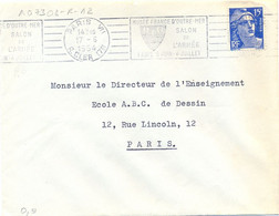 PARIS VII R. CLER (7e) OMec RBV 17-6-1954 MUSÉE FRANCE D'OUTRE-MER / SALON / DE /  L'ARMÉE / PARIS 5 JUIN – 4 JUILLET - Annullamenti Meccanici (pubblicitari)
