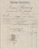 38   FACTURE GRENOBLE 1911 LOUIS PARAVY  TAILLEUR  23 AVENUE DE LA GARE - Zonder Classificatie