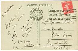 AFFRANCHISSEMENT 1ER JANVIER 1927 DATE INCOMPLETE FLIER PARIS XVIII CHEQUES POSTAUX SUR CPA - 1921-1960: Moderne