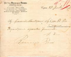 1917 CRESPINO ROVIGO - DITTA REMIGIO ROSSI, NEGOZIO RAME - Italië